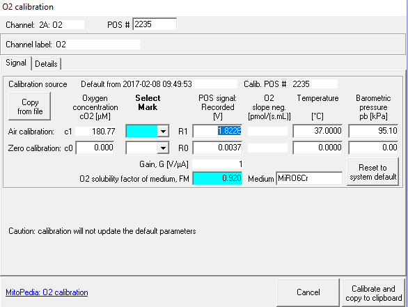 Oxygen calibration - DatLab - Bioblast