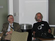 Doug Wallace and Erich Gnaiger at IOC91, Philadelphia 2014