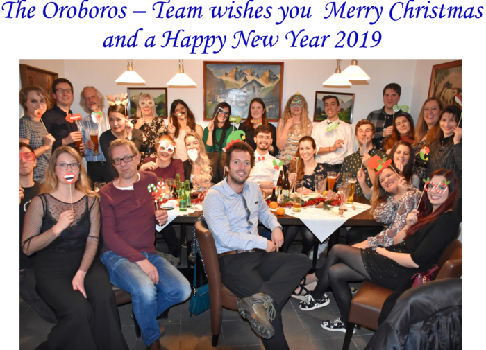 Oroboros group picture at the christmas party